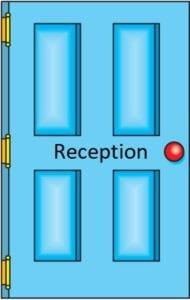 Reception door icon